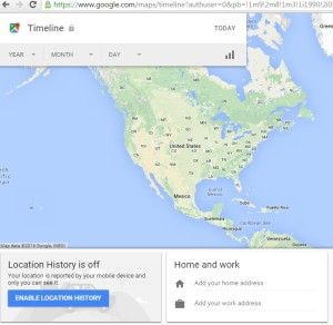 Track phone using Google location history